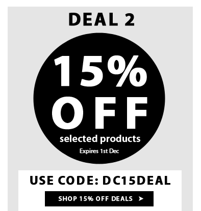 Extra 15% Off on Selected products