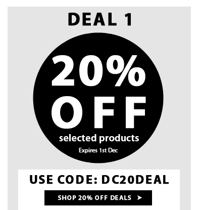 Extra 20% Off on Selected Products