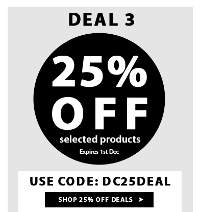 Extra 25% Off on Selected Products