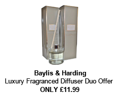 Baylis and Harding Diffuser - Duo Offer - Luxury Fragranced White Linen