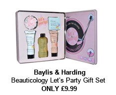 Baylis and Harding Lets Party set: Body Wash, Body Lotion, Soap and Shower Cream